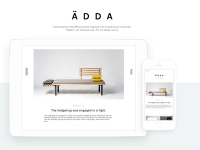 Ädda - Design + Lifestyle WordPress wordpress blog landing page theme for wordpress wordpress theme website web design