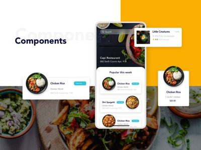Foode - Best Food Order Mobile App ui kit design ui kit flat elements ux app ui branding web design