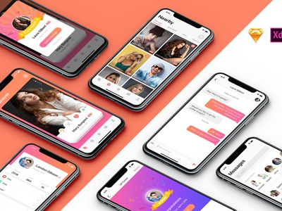 MIGO Dating UI Kit ui kit design ui kit flat elements ux app ui branding web design