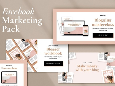 Facebook Marketing Pack | CANVA facebook cover instagram stories banner design facebook design