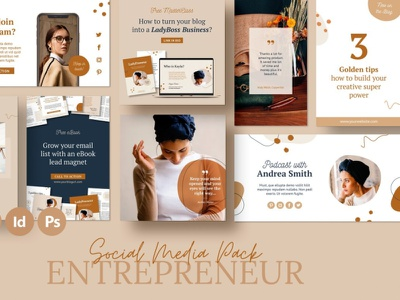 Social Marketing Bundle / Kayla facebook post media kit social media marketing facebook cover facebook banner instagram facebook design