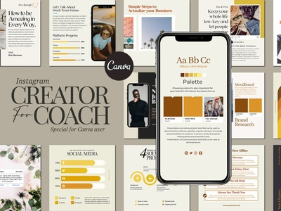 Insta Creator For Coach CANVA instagram instagram banner instagram post social media template design
