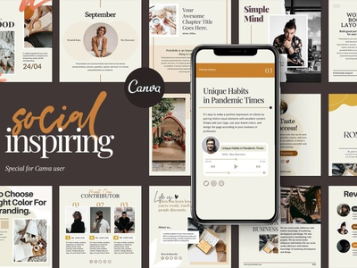 Instagram Social Inspiring CANVA instagram banner instagram post instagram template stories instagram design