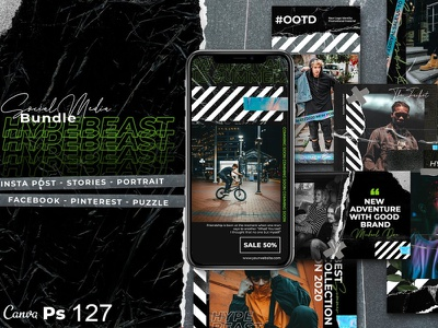 Hypebeast Bundle instagram template instagram stories social media instagram banner instagram design
