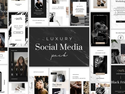 Luxury Social Media Pack instagram banner instagram post template instagram social media design