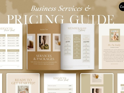 Services and Pricing Guide Template brochure design packaging proposal brochure service design template services