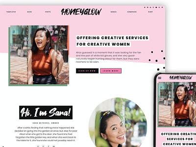 Honeyglow Wordpress Theme Blog theme template ux app ui elements web website webdesign wordpress theme wordpress
