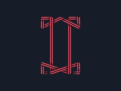 #36days_I 36daysoftype 3d color illustration illustrator lettering logo shadow type typography vector letter i