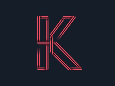 #36days_K alphabet 36daysoftype 3d color illustration illustrator lettering logo shadow type typography vector letter k