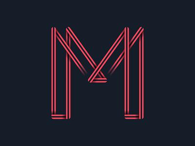 #36days_M 36daysoftype 3d color illustration illustrator lettering logo shadow type typograhpy vector letter m alphabet