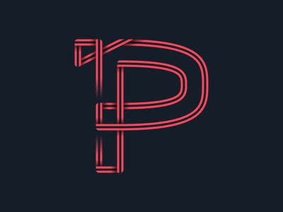 #36days_P alphabet letter p vector typography logo type shadow 3d lettering illustration illustrator color 36daysoftype