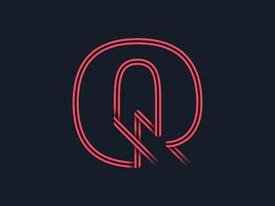 #36days_Q 36daysoftype color illustrator illustration lettering 3d shadow type logo typography vector letter q alphabet