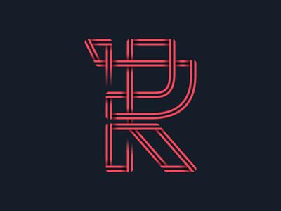#36days_R vector typography type shadow logo letter r lettering illustration illustrator color alphabet 3d 36daysoftype