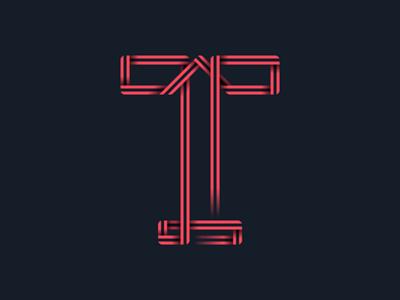 #36days_T letter t lettering logo illustration illustrator shadow 3d typography type alphabet 36daysoftype