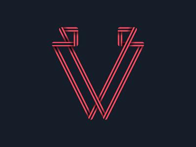 #36days_V letter v lettering logo illustration illustrator shadow 3d typography type alphabet 36daysoftype