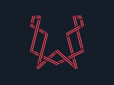 #36days_W 36daysoftype alphabet type typography 3d shadow illustration illustrator logo lettering letter w