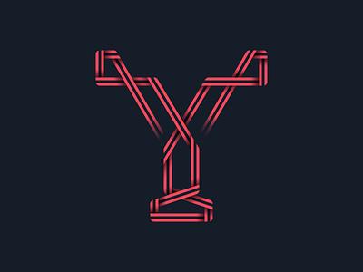 #36days_Y 36daysoftype alphabet type typography 3d shadow illustration illustrator logo lettering letter y