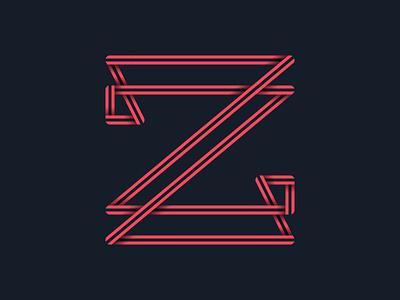 #36days_Z letter z lettering logo illustrator illustration shadow 3d typography type alphabet 36daysoftype
