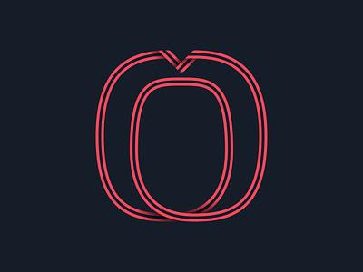 #36days_0 36daysoftype alphabet type typography 3d shadow illustration illustrator logo lettering number 0