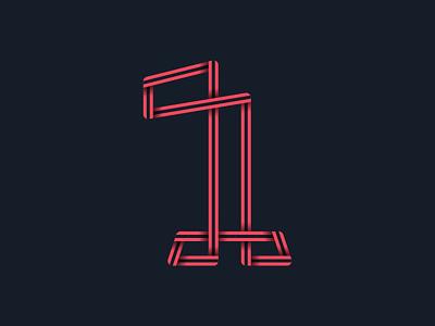 #36days_1 number 1 lettering logo illustrator illustration shadow 3d typography type alphabet 36daysoftype