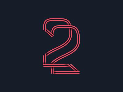 #36days_2 36daysoftype alphabet type typography 3d shadow illustration illustrator logo lettering number 2