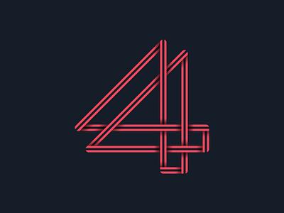 #36days_4 36daysoftype alphabet 3d type typography 2d shadow illustrator illustration logo lettering number 4