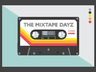 Tape Cassette graphic design illustration design typography walkman cassette tape hip hop