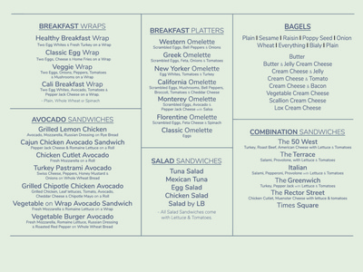 50 West Menu Board Mockup