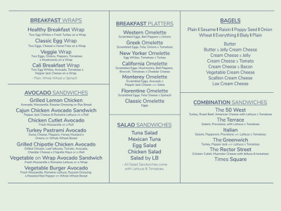 50 West Menu Board Mockup design typography graphicdesign menuboard menu