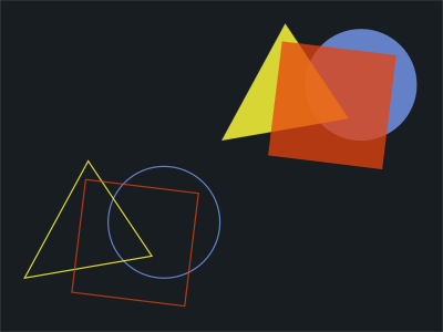 Shapes and Colors geometric visual graphic transparency translucency colors shapes kandinsky bauhaus