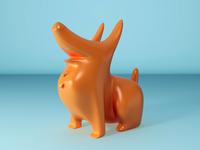 Corgi Art Toy