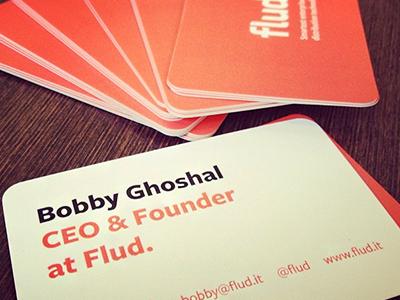 Flud business cards business card business card typography print flud news rss reader mobile social enterprise