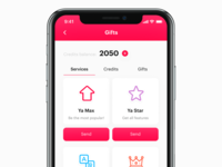 Dating app –  Gifts