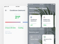 Smart home concept – Home and Conditioner