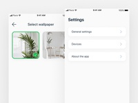 Smart home concept – Settings and Select wallpaper
