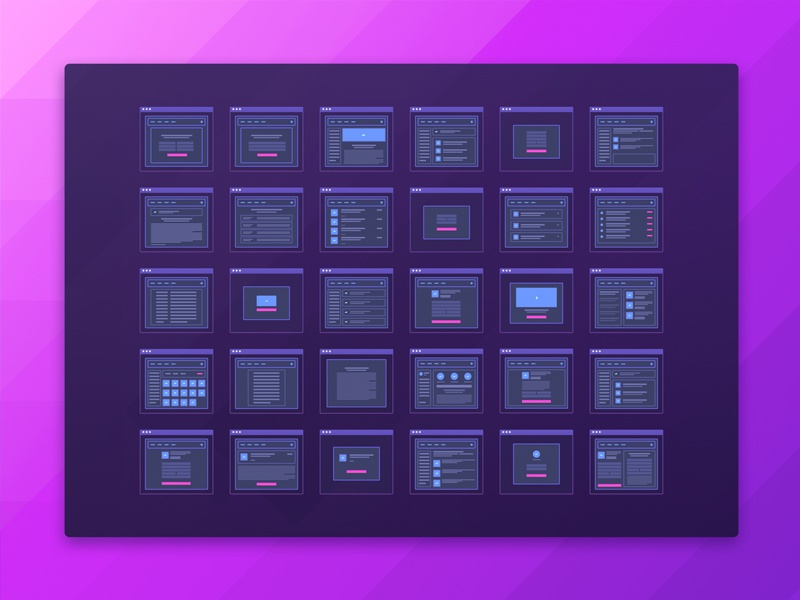 Free Set of Micro Wireframes for a Web App zajno user experience user interface material application travel travel app app wireframes ui ux design web apps