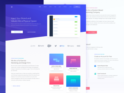Landing Page for Marketing Website