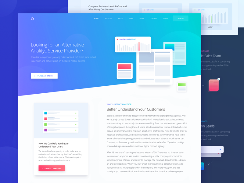 marketing website solutions page design by sergey pikin dribbble