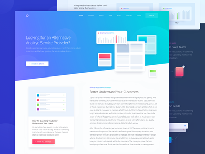 Marketing Website Solutions Page Design zajno ux ui targeting strategy planning optimization marketing delivery communication analytics advertising