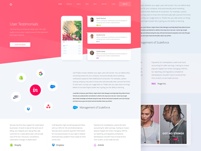 User Testimonials Page Design for Marketing Website zajno ux ui targeting strategy planning testimonials marketing delivery communication analytics advertising
