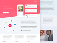 User Testimonials Page Design for Marketing Website