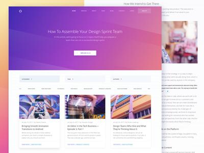 Blog Page Design for Marketing Website zajno ux ui targeting strategy planning marketing blog communication analytics advertising
