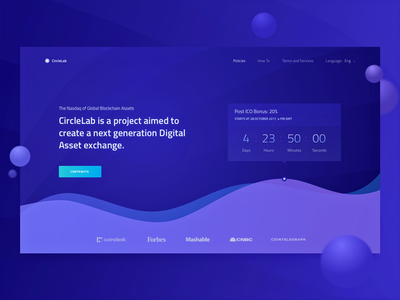Homepage for a New Cryptocurrency Startup token chart web design ux ui timer zajno minimalistic cryptocurrency ico landing page