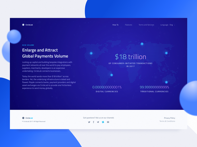New Cryptocurrency Website: Problem Description information architecture web design data numbers design website crypto pins map ux ui zajno