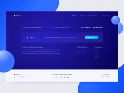 Third Step Description for a Cryptocurrency Contribution Flow bitcoin token zajno web design ux ui selection minimalistic ico cryptocurrency contribution blockchain