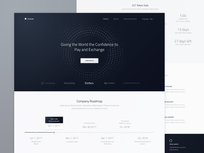 Landing Page Wireframe for New Cryptocurrency Website: WIP