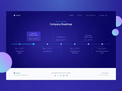 New Cryptocurrency Website: Roadmap Design