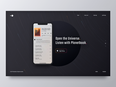 New Mobile App Website Design: WIP audiobook space startup application product landing mobile app ios zajno concept ux ui