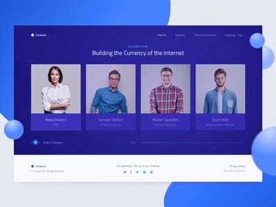 New Cryptocurrency Website: Team Section Design zajno ui ux token landing minimalistic team section web design bitcoin cryptocurrency ico blockchain