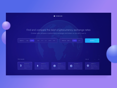 Cryptocurrency Exchange Rate Comparison Service litecoin ether ico blockchain investment zajno ui ux web design token bitcoin cryptocurrency
